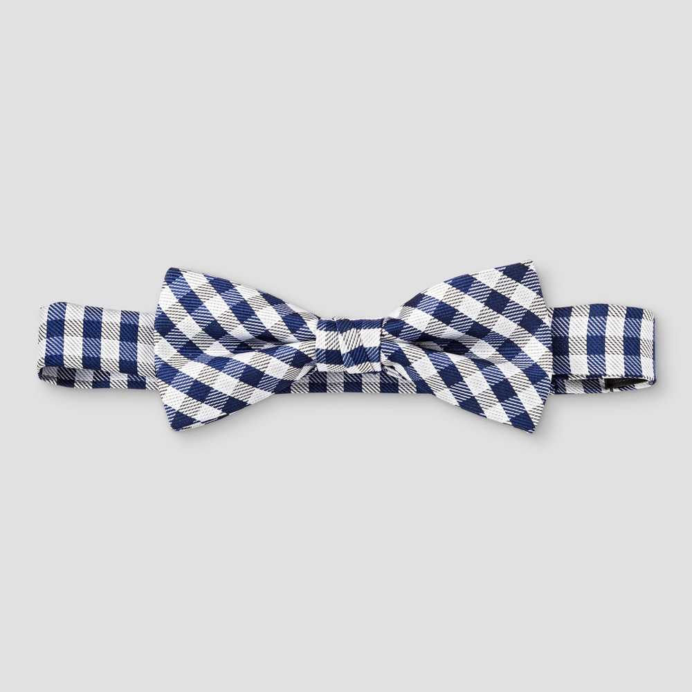 City of London Boys' Bow Tie Gingham Checks – Navy (Blue), Boy's