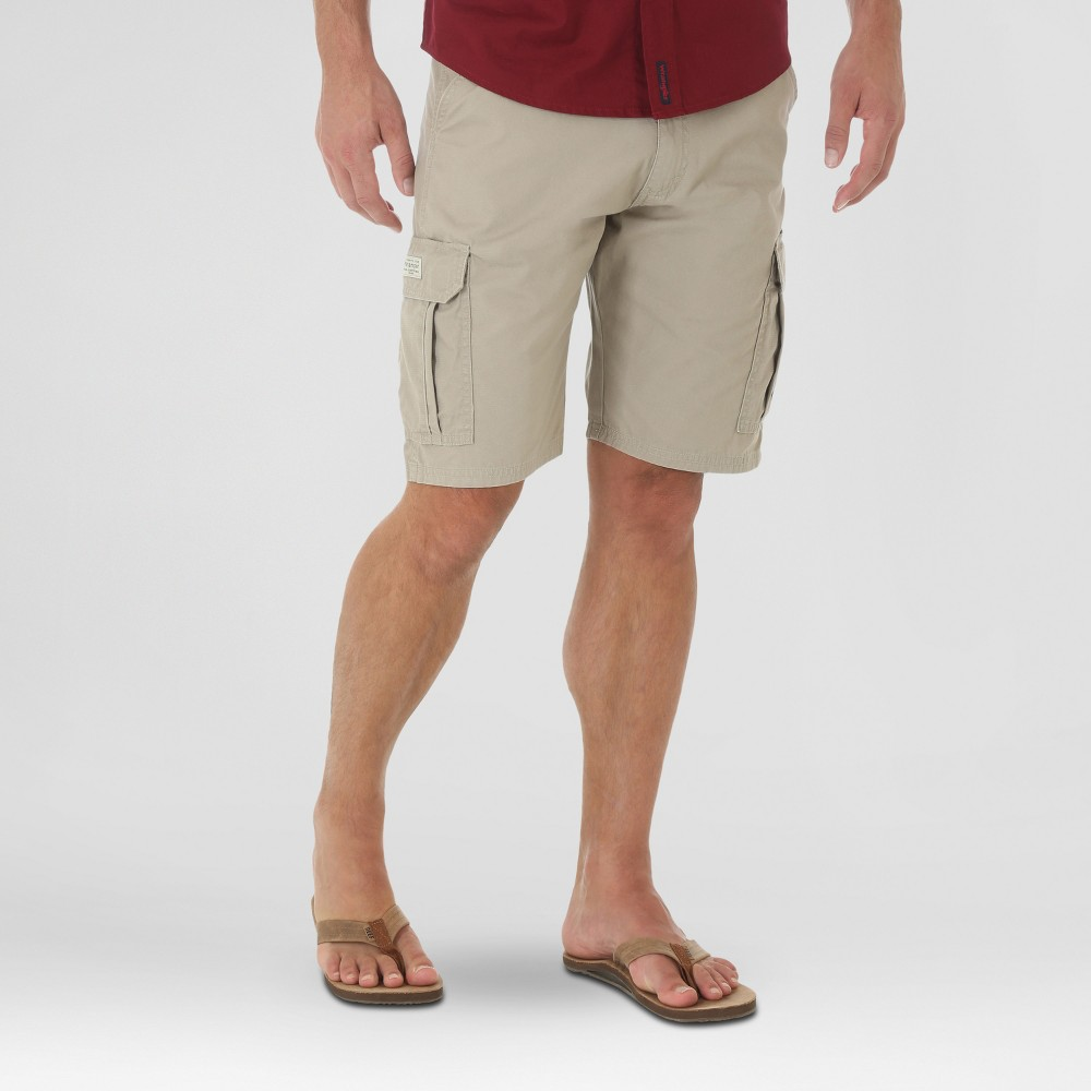 Wrangler Mens Ripstop Cargo Shorts - Khaki (Green) 34