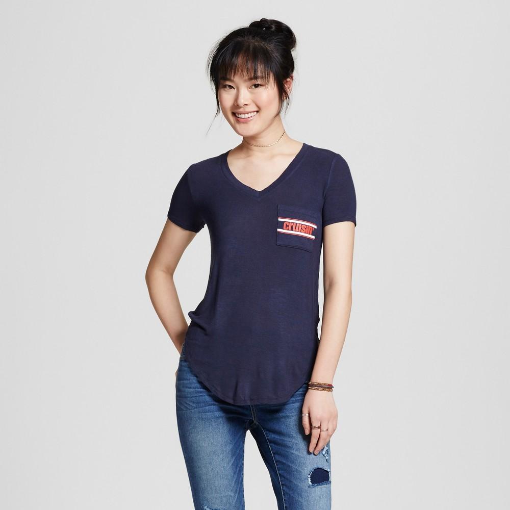 Womens Cruisin Pocket Graphic T-Shirt Navy Blue XL - Well Worn (Juniors)