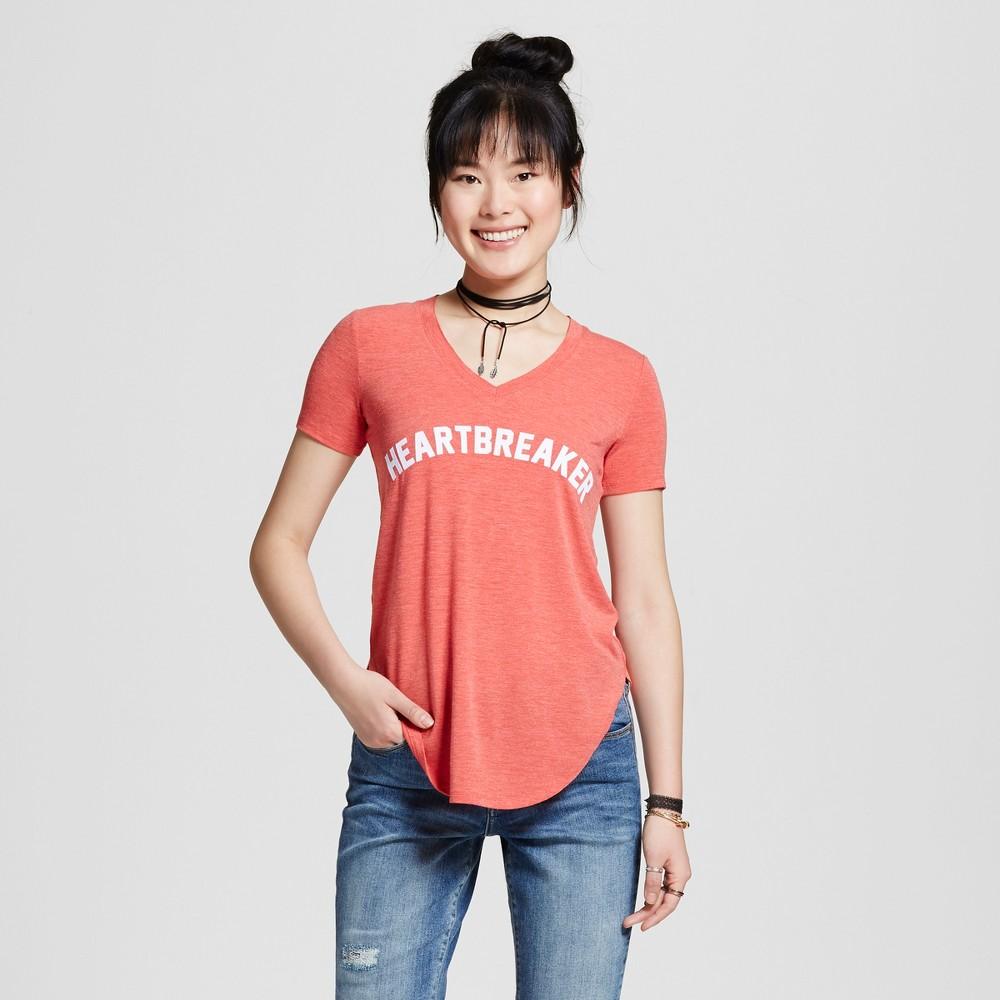 Womens Heartbreaker Graphic T-Shirt Red XL - Well Worn (Juniors)