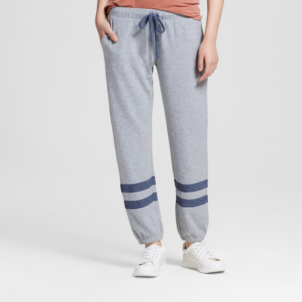 Womens Ankle Stripe Soft Brushed Leisure Jogger Heather Gray XL - Well Worn (Juniors)