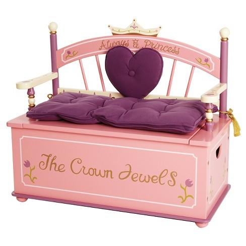 Wildkin Princess Bench Seat with Storage : Target