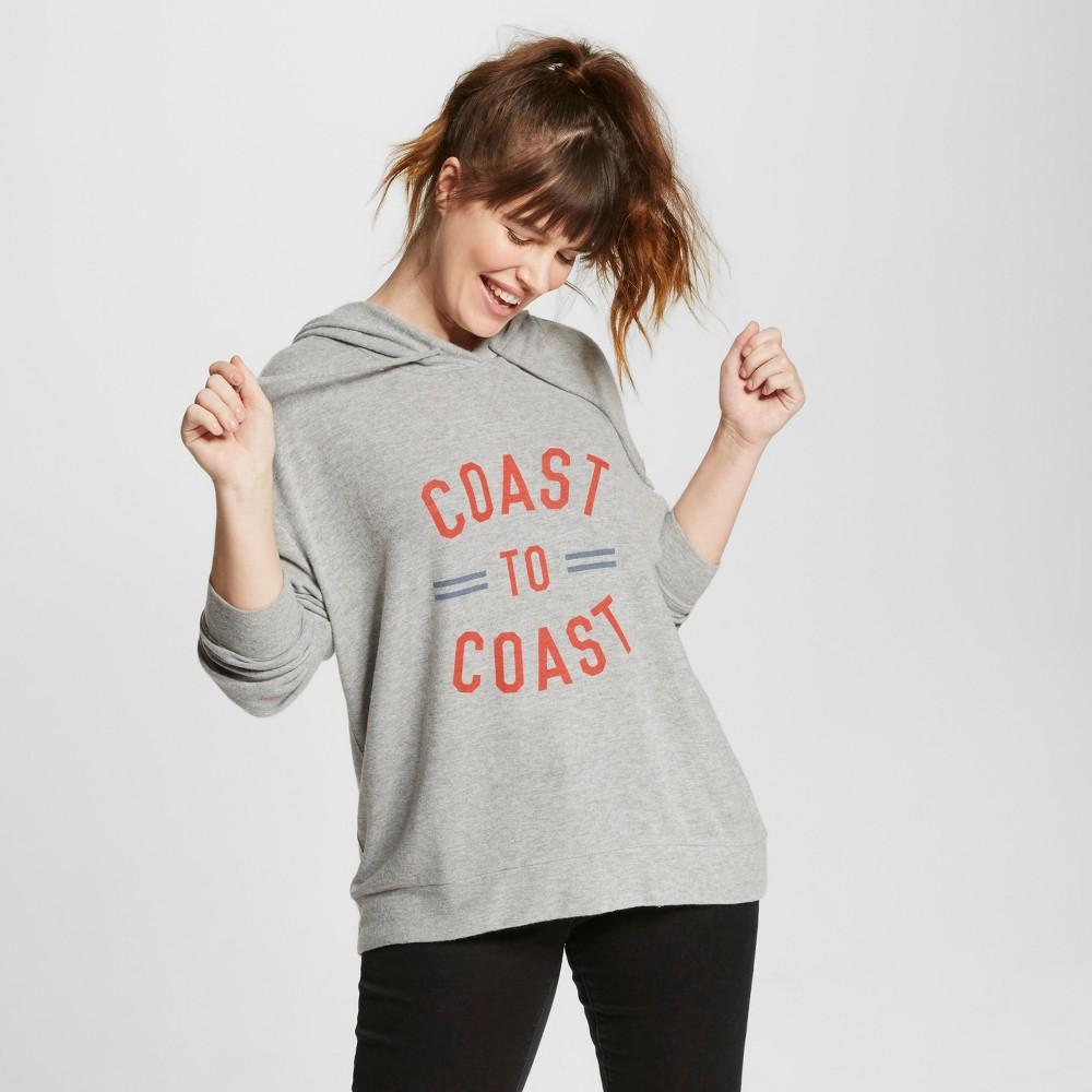 Women's Plus Size Coast to Coast Soft Brushed Leisure Pullover Sweatshirt Heather Gray 1X – Well Worn (Juniors')