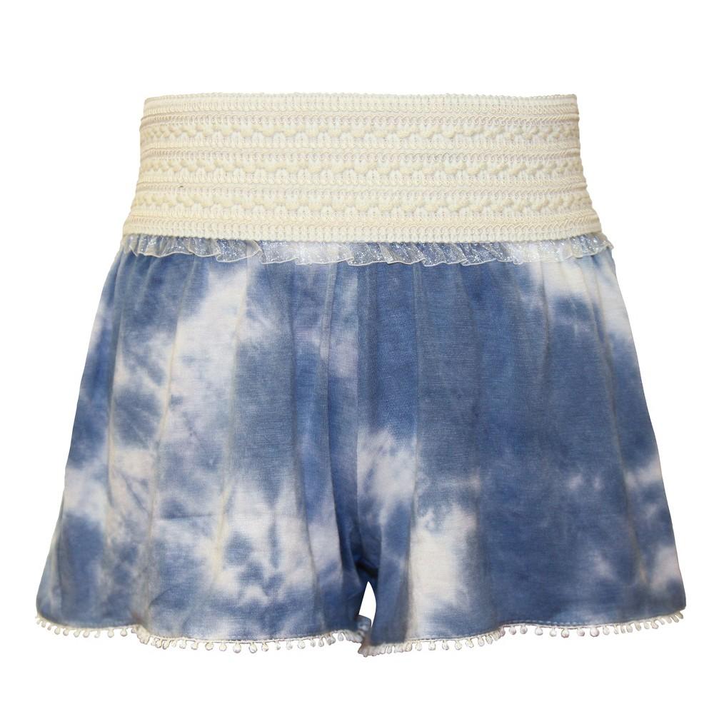 Girls' Franki & Jack Tie Dye Shorts – Dancing Blue M(7-8), Girl's