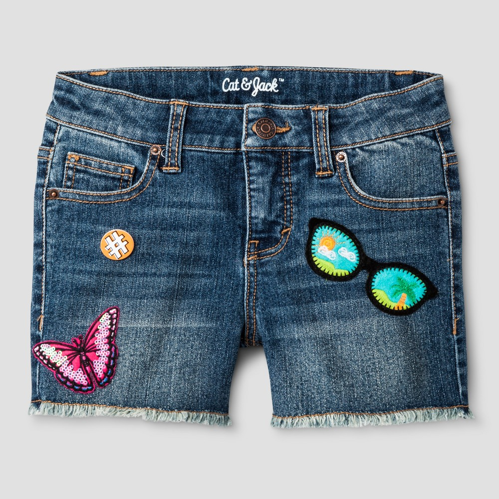 Girls Fashion Shorts - Cat & Jack Denim Blue XS