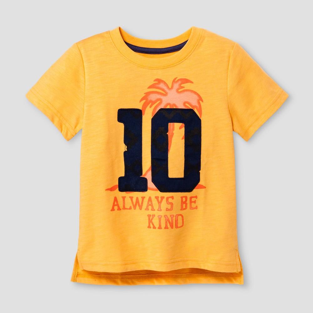 Toddler Boys Graphic T-Shirt Cat & Jack Tangerine 2T, Orange