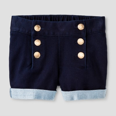 Toddler Girls' Genuine Kids™ from OshKosh® Jean Shorts Blue 12 M