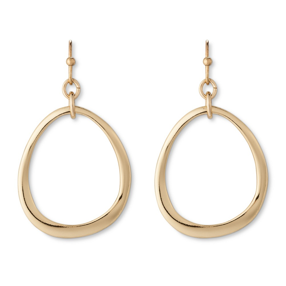 Organic Drop Earring - Gold, Womens