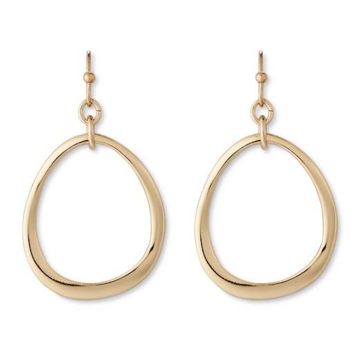 organic drop earring gold target