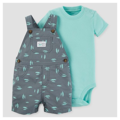 Baby Boys' Alligators Shortall Set - Just One You™ Made by Carter's® Gray/Green 6M