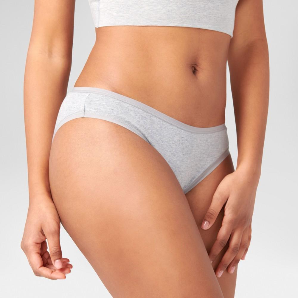 Pact Organic Super Soft Cotton Womens Classic 2pk Bikini Briefs - Black XL