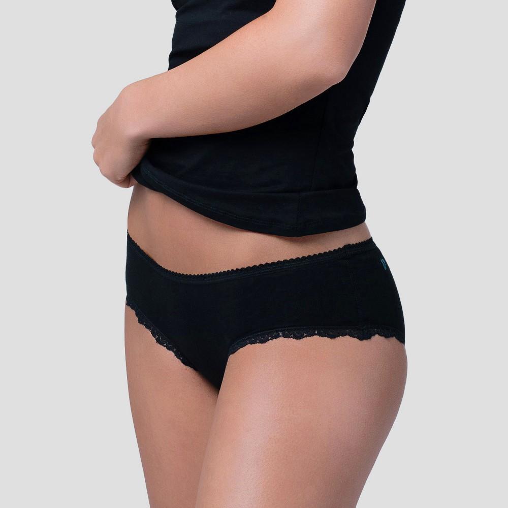 Pact Organic Super Soft Cotton Womens Hipster 2pk - Black L
