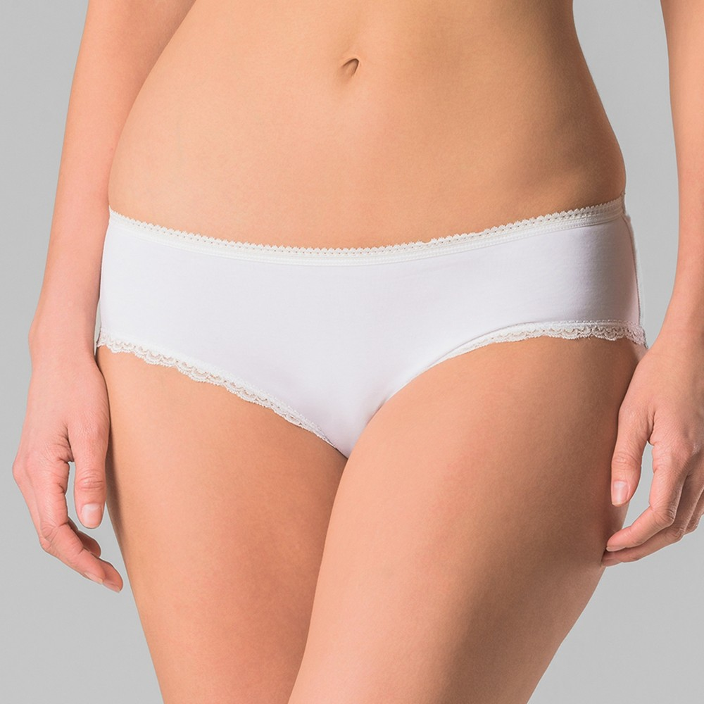 Pact Organic Super Soft Cotton Womens Hipster 2pk - White S