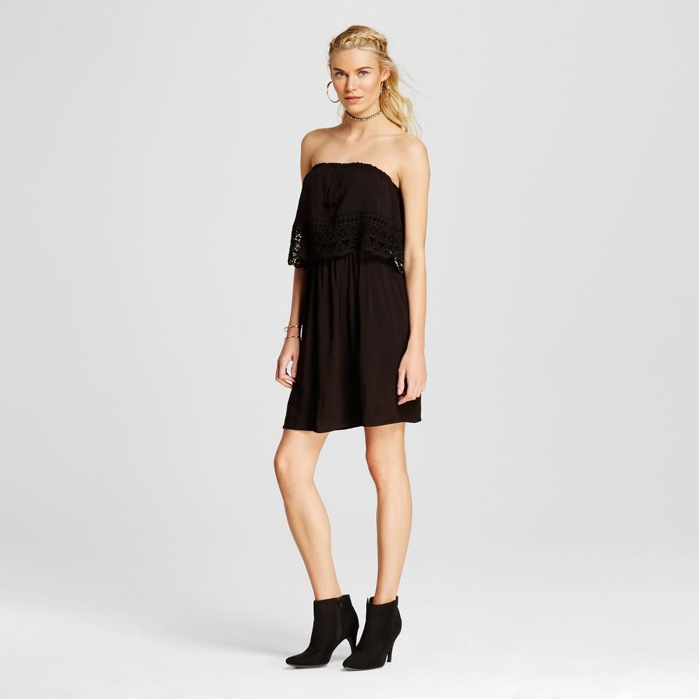 Womens Off the Shoulder Dress - Xhilaration (Juniors) Black XL