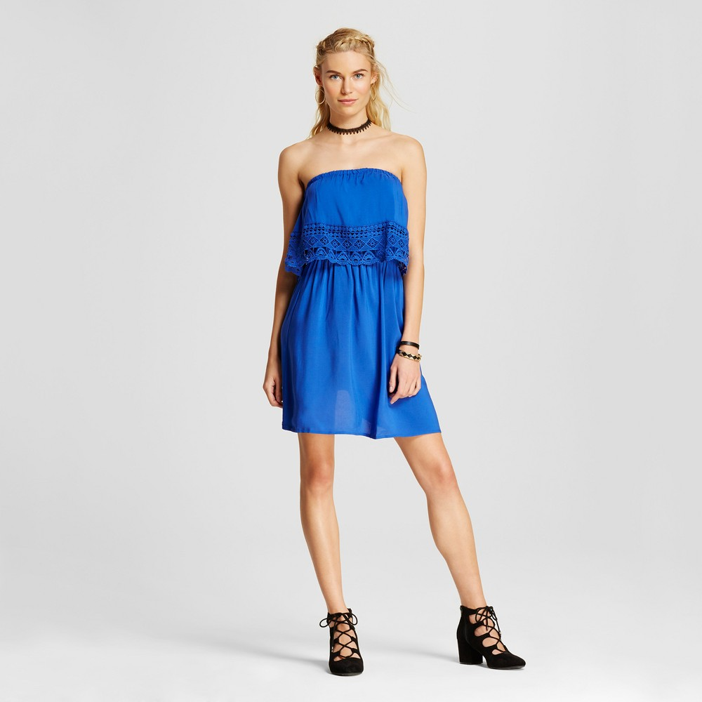 Womens Off the Shoulder Dress - Xhilaration (Juniors) Blue M