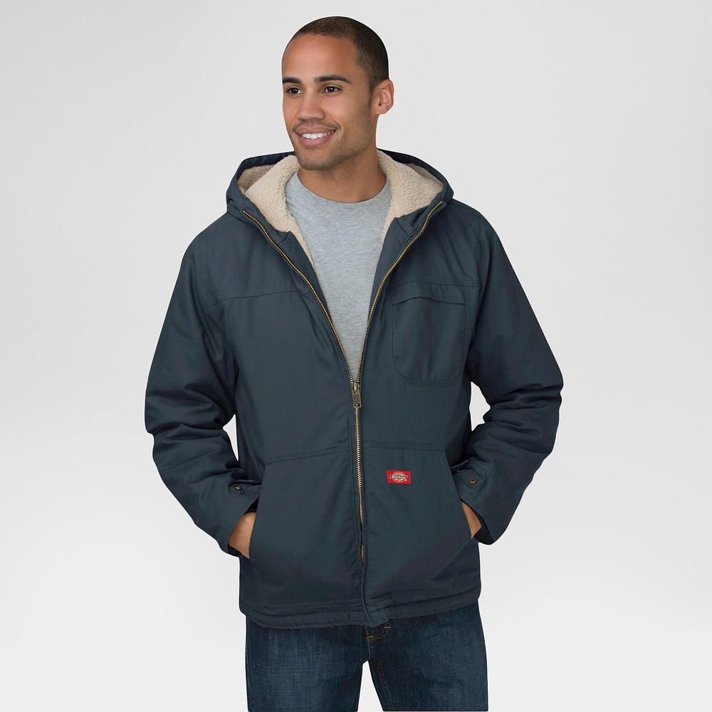Dickies Mens Duck Sherpa Lined Hooded Jacket Big & Tall Xxxl, Grey