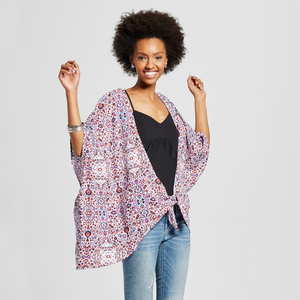 Women's Knot-front Kimono Jacket - Xhilaration (Juniors') XS/S Red