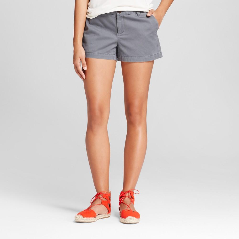 Womens 3 Chino Shorts - Merona Thundering Gray 18