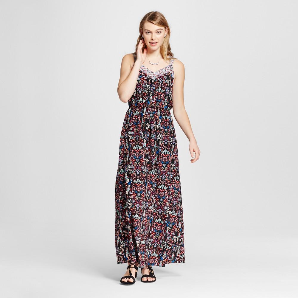 Womens Strappy Blouson Maxi Dress - Xhilaration (Juniors) Red XS, Purple