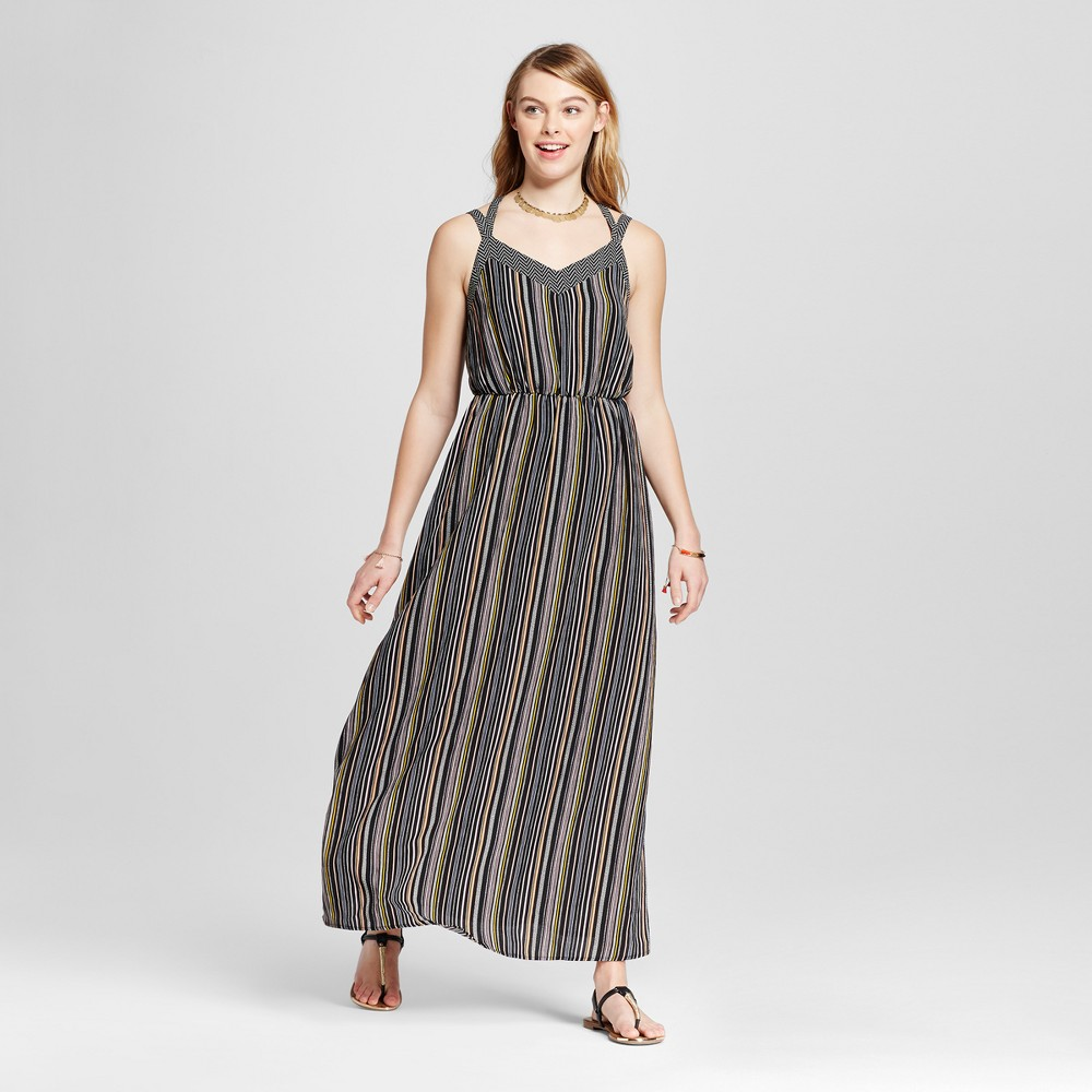 Womens Strappy Blouson Maxi Dress - Xhilaration (Juniors) Black M