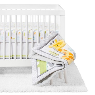 Crib Bedding Set Snoozn' Safari 4pc - Cloud Island™ - Yellow/Gray
