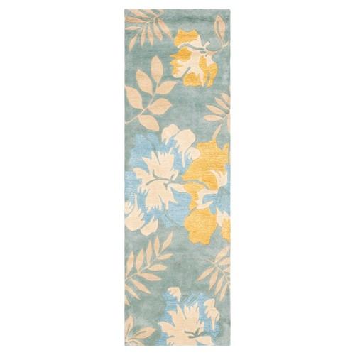 Blue/Multi Botanical Tufted Runner - (2'6x14' Runner) - Safavieh