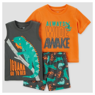 Toddler Boys' 3pc Pajama Set - Just One You™ Made by Carter's® Orange 12M