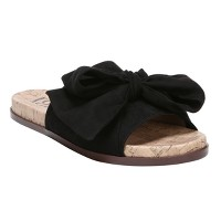 Women's Sam & Libby Neveda Slide Sandals with a Bow. opens in a new tab.
