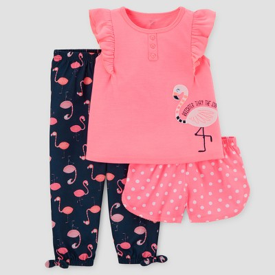 Toddler Girls' 3pc Pajama Set - Just One You™ Made by Carter's® Pink 12M