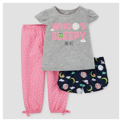 Toddler Girls' Pajama Set - Just One You™ Made by Carter's® Gray 12M