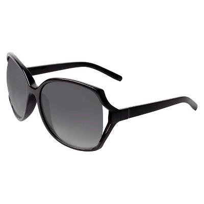 Oversized Square Polarized Sunglasses - Black