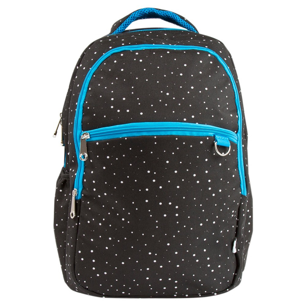 Yoobi 18 Classic Backpack with D Ring & Laptop Sleeve - Black Galaxy Print