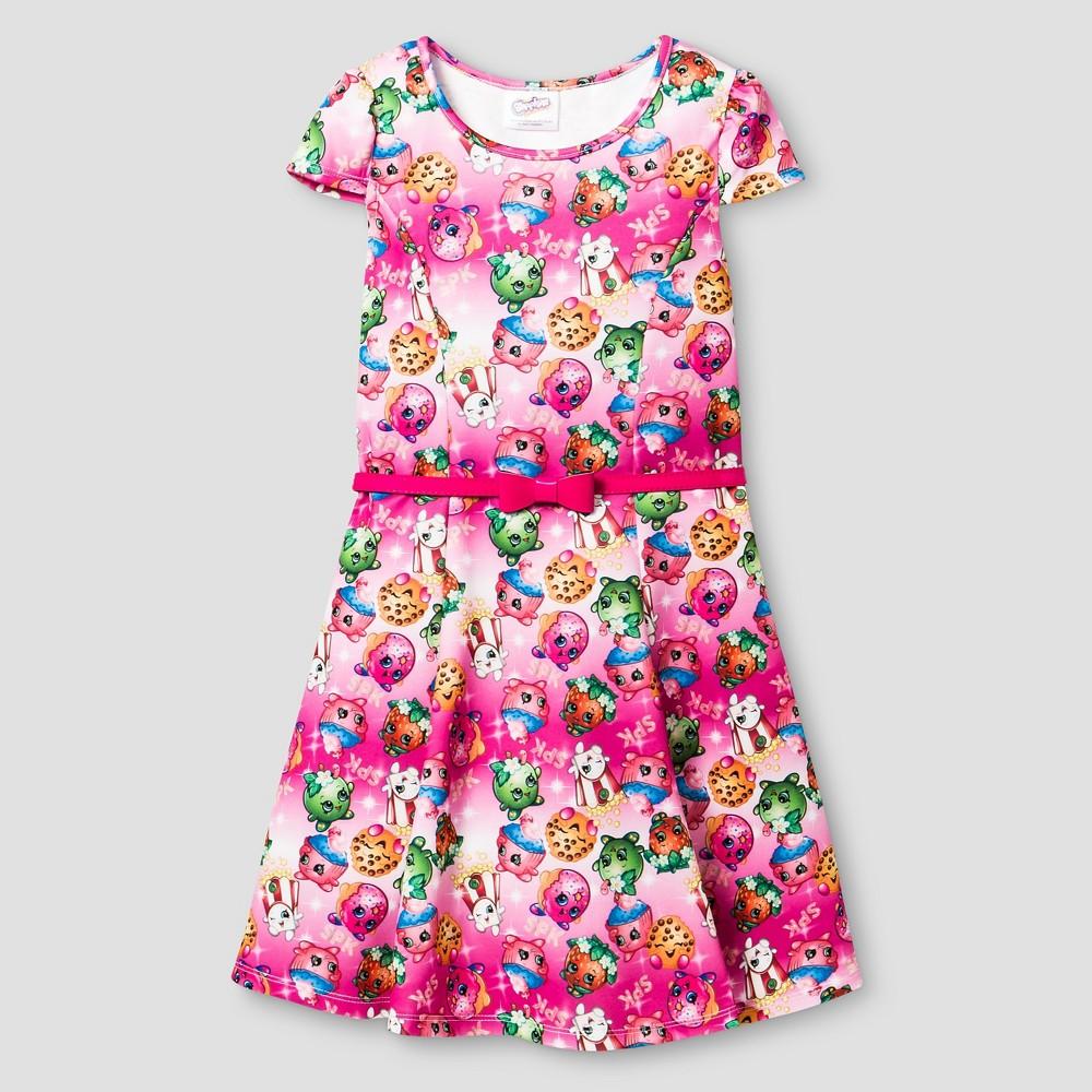 Girls' Shopkins Skater Dress - Multi-color 5, Multicolored