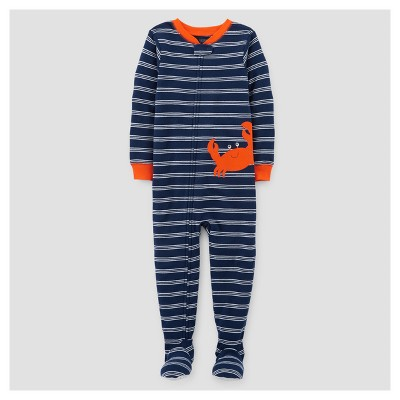 Toddler Boys' One Piece Snug Fit Cotton Footed Pajama - Just One You™ Made by Carter's® Blue/Red 12M