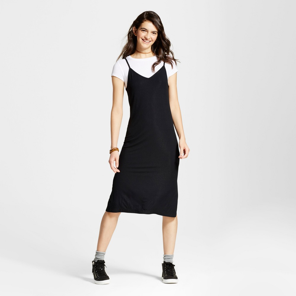 Womens Knit Slip Dress with T-Shirt - Mossimo Supply Co. Black L