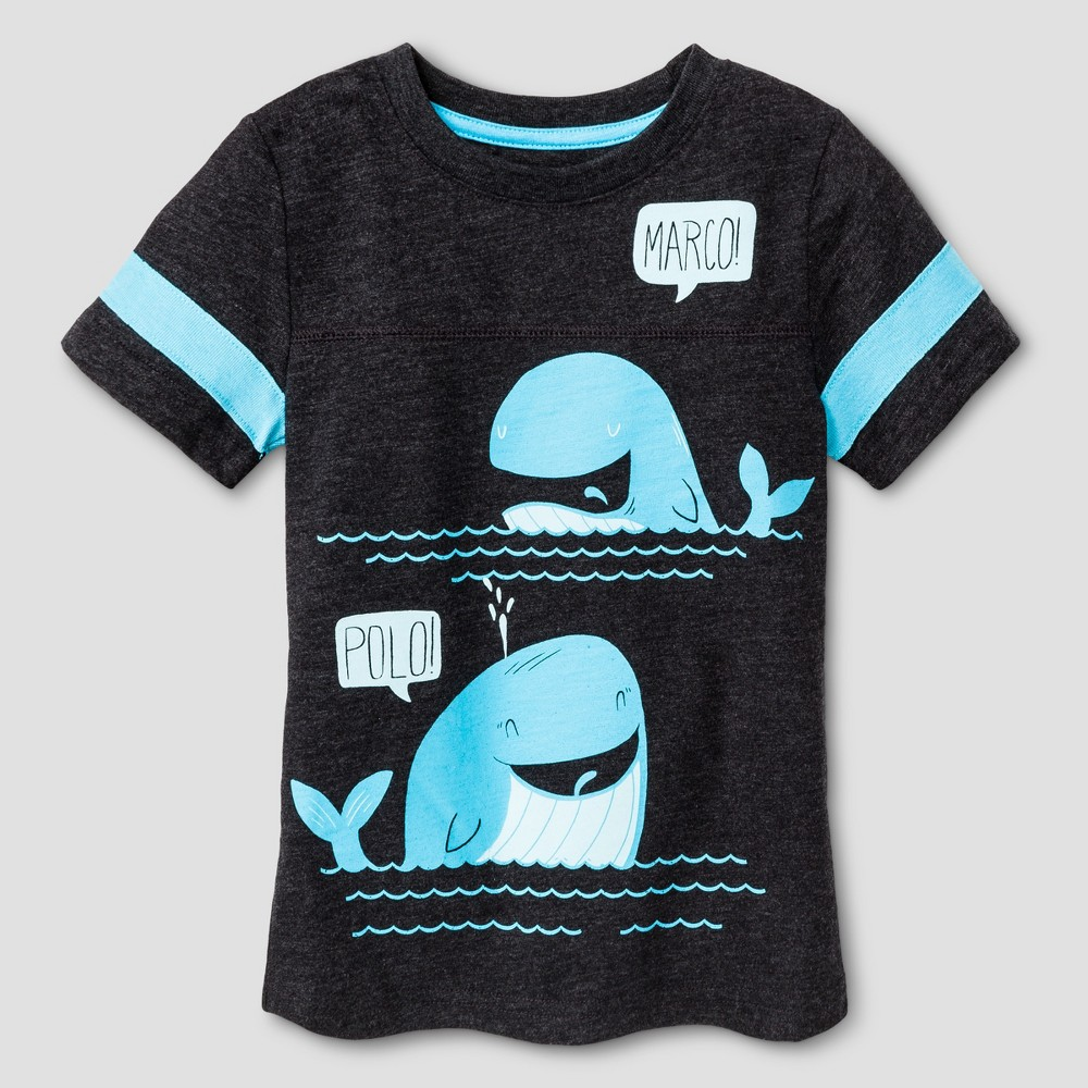 Toddler Boys Whale Graphic T-Shirt Cat & Jack Black 3T