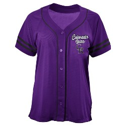 MLB Women's Contrast Piping Mesh Team Jersey