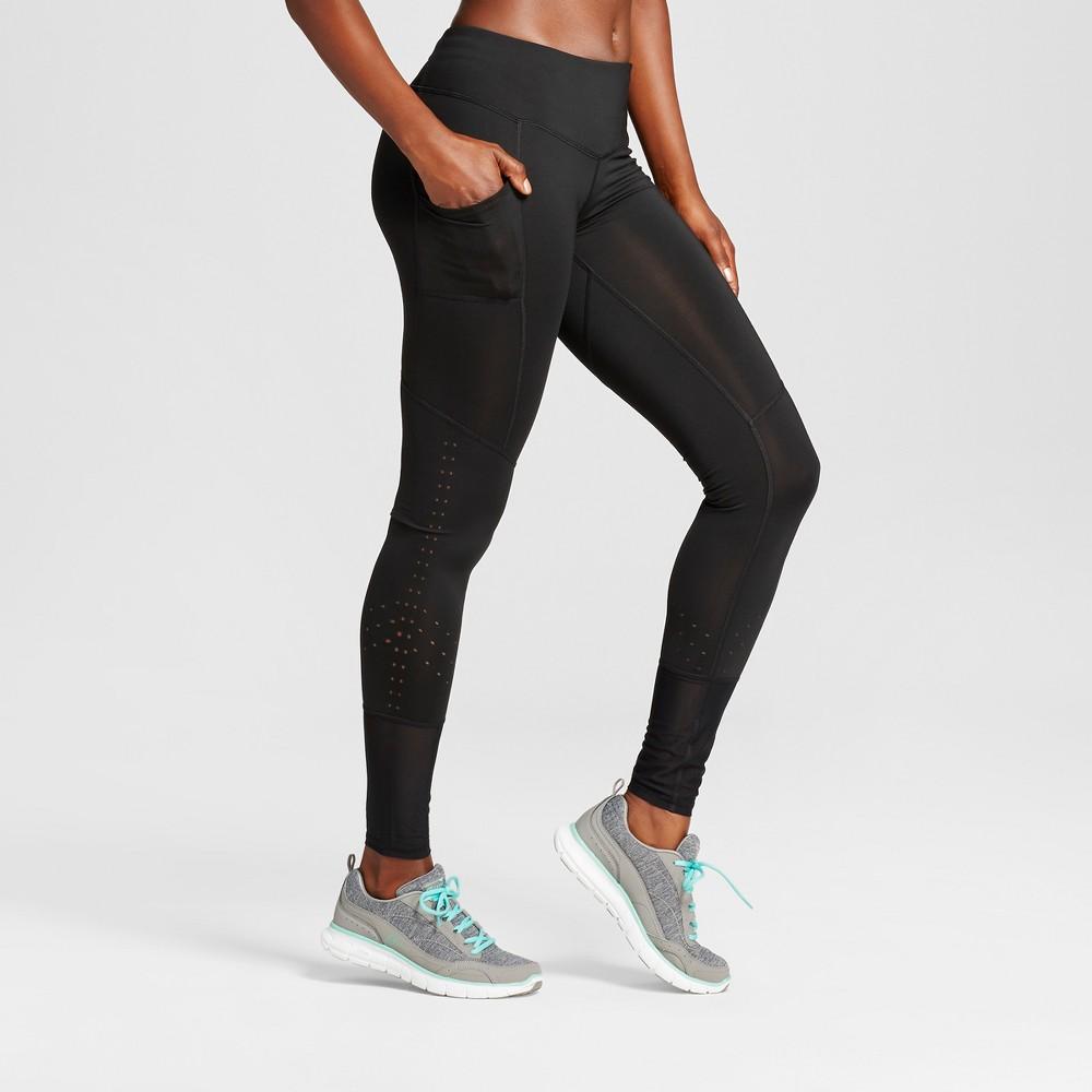 Womens Embrace Laser Cut Leggings - C9 Champion - Black XS