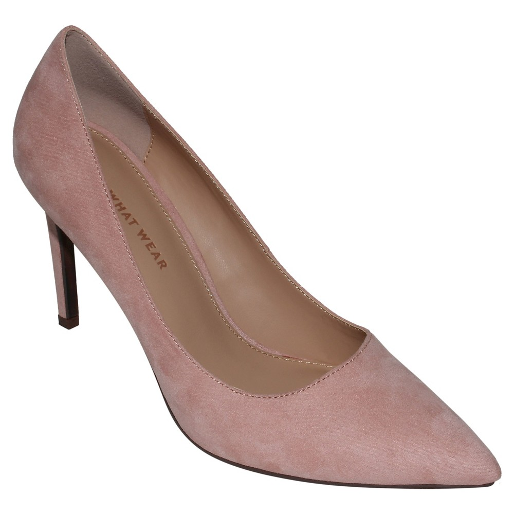 Womens Ally Microsuede Pumps Who What Wear - Blushing 9