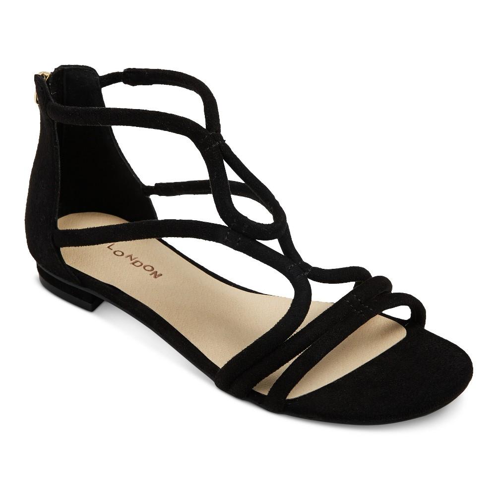 Womens Z-London Tubular Simple Gladiator Sandals - Black 9
