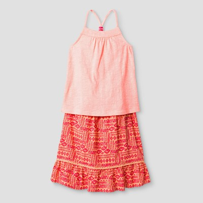 Baby Girls' Top And Bottom Set Cat & Jack ™ - Moxie Peach 12M