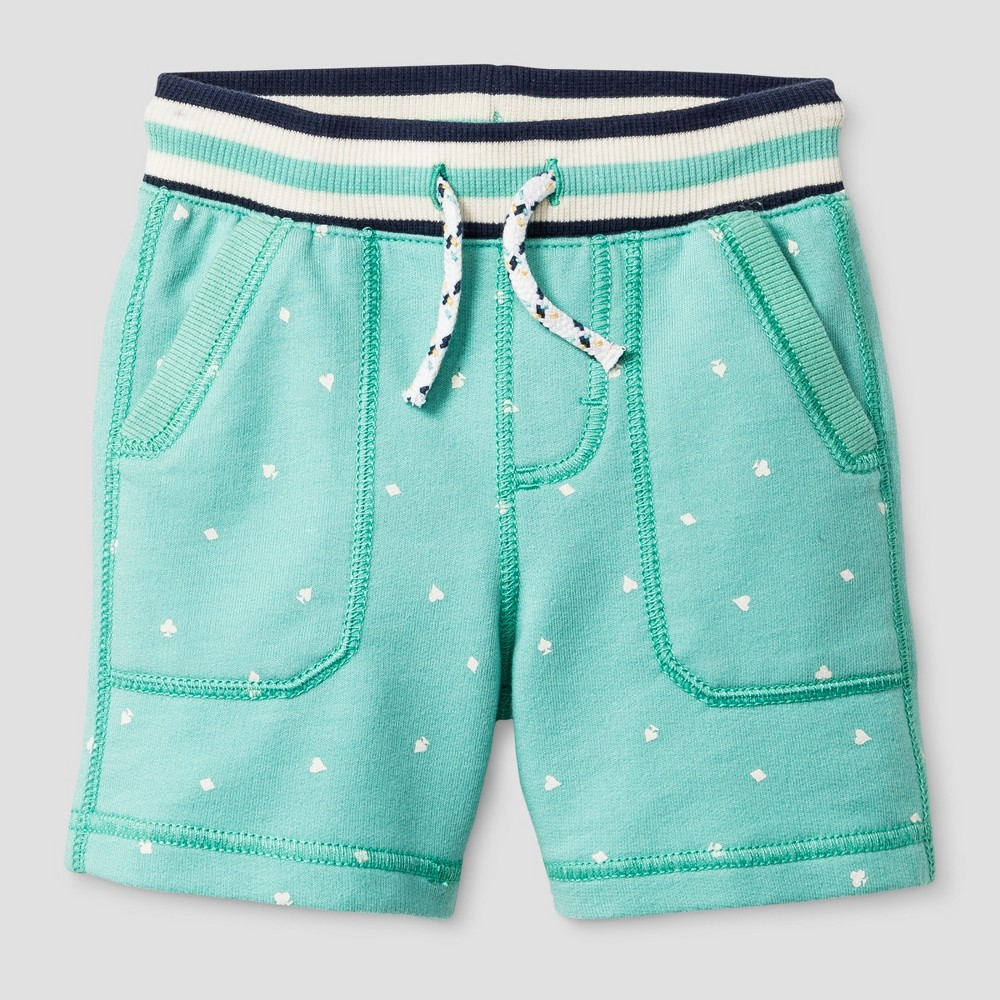 Toddler Boys Printed Pull-On Shorts Genuine Kids from OshKosh - Ocean Green 18M, Size: 18 M, Blue
