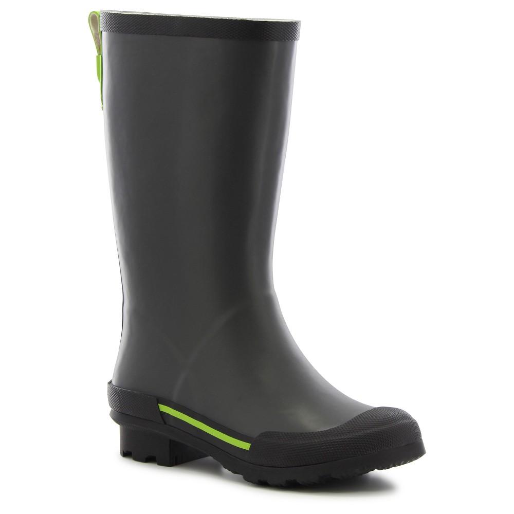 Boys Classic EX Solid Rain Boots - Gray 5