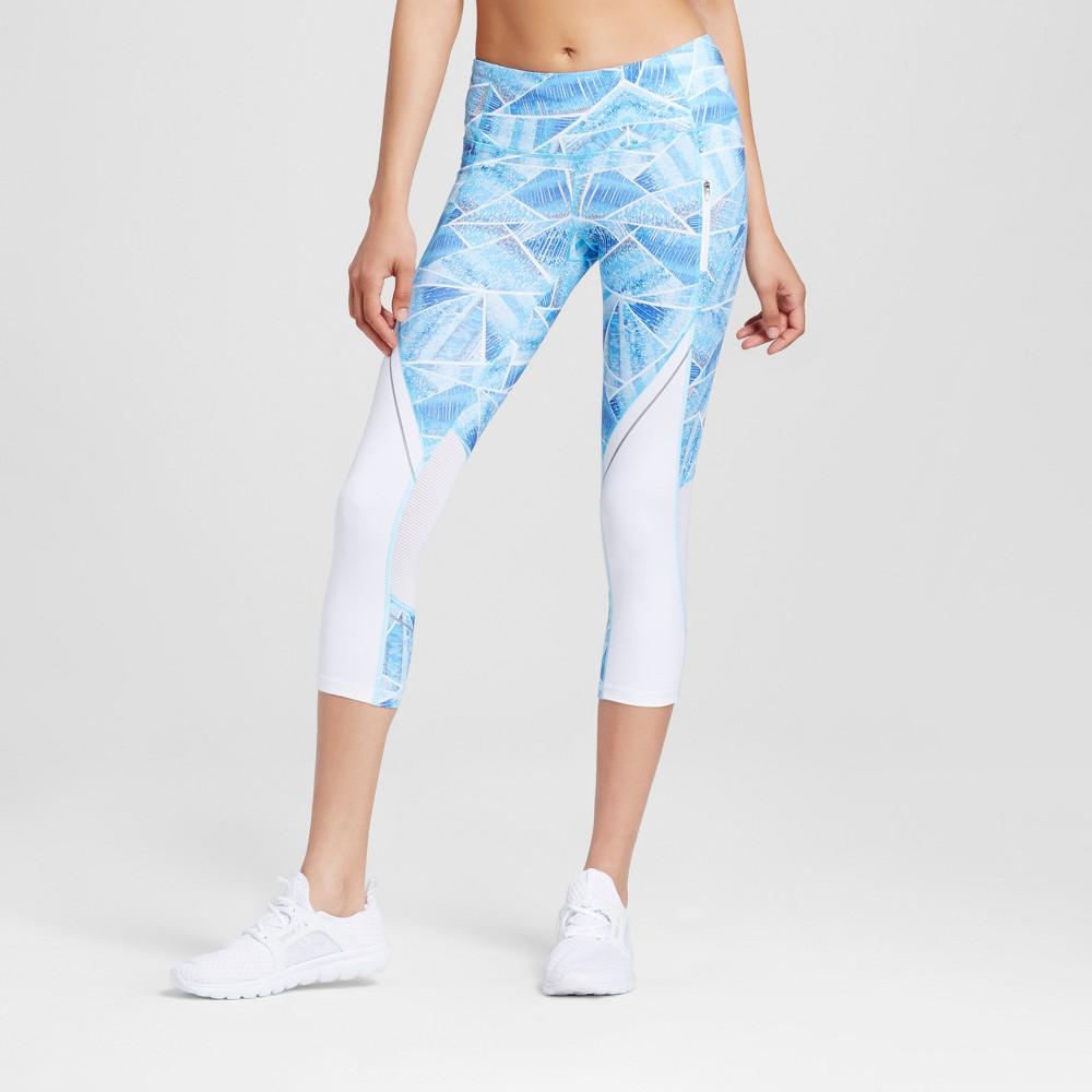 Women's Embrace Run Leggings - C9 Champion Steel Blue/Multi Print L