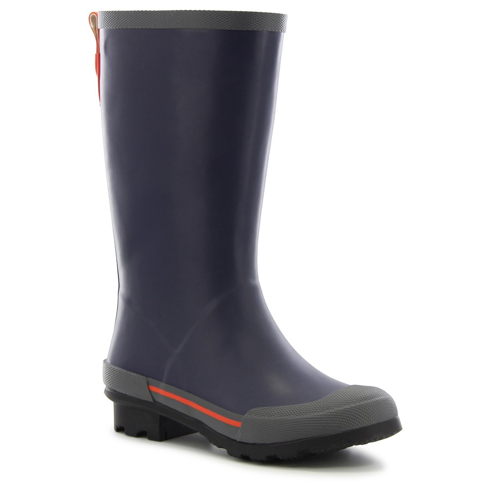 Boys Classic EX Solid Rain Boots - Navy (Blue) 12