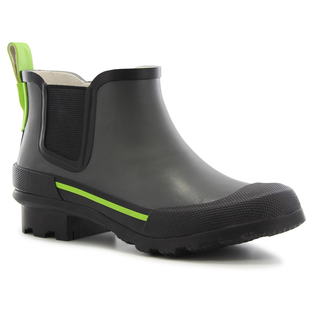 Boys Twin Gore Solid Rain Boots - Gray 13