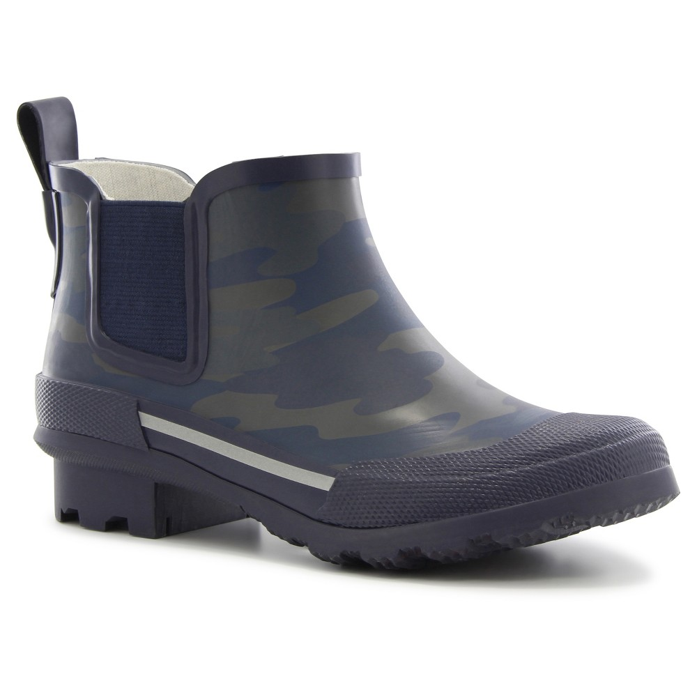 Boys Twin Gore Camo Rain Boots - Navy (Blue) 13