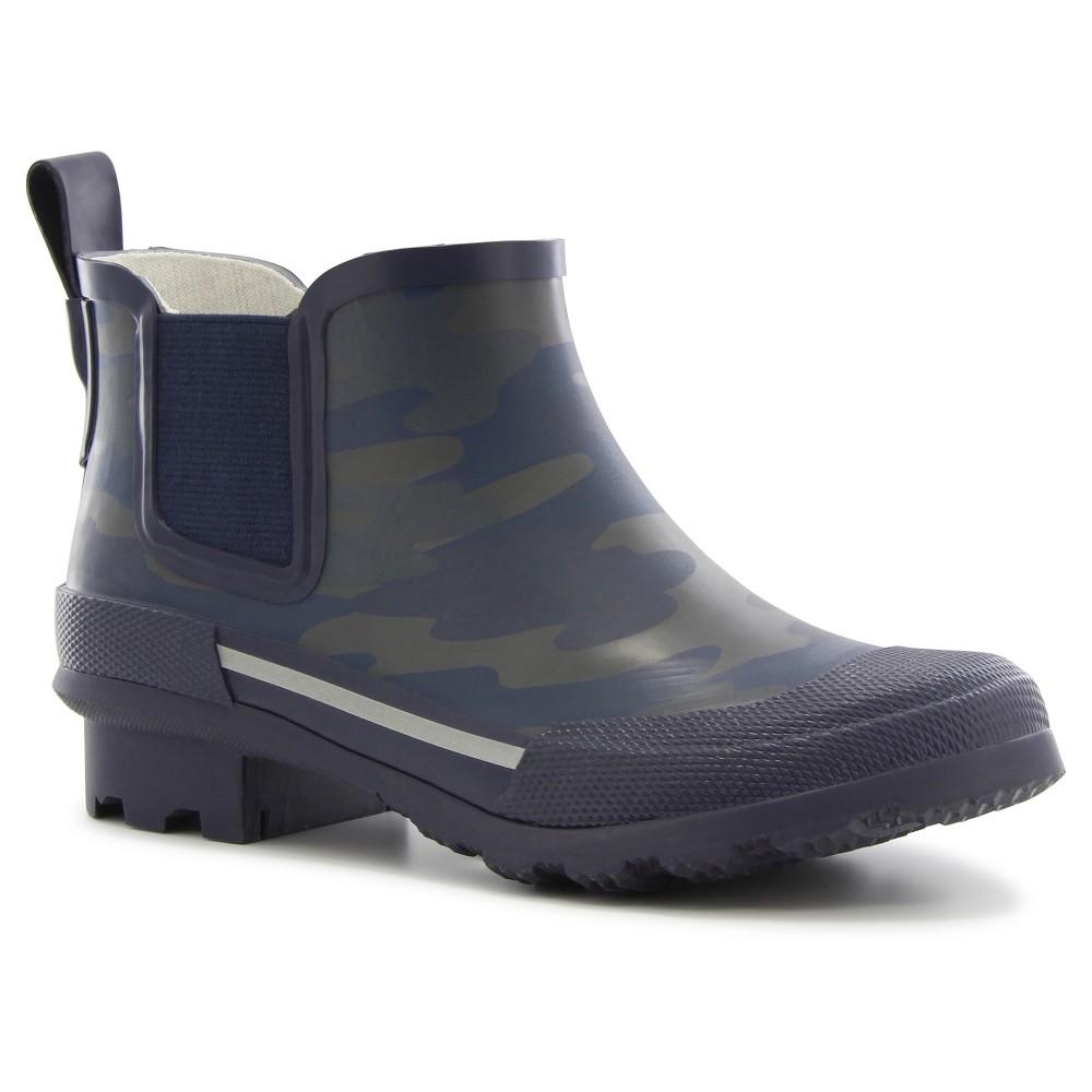 Boys Twin Gore Camo Rain Boots - Navy (Blue) 12