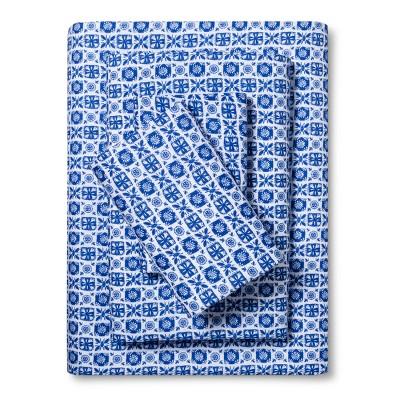 Blue Tile Sheet Set (Queen)- Xhilaration™