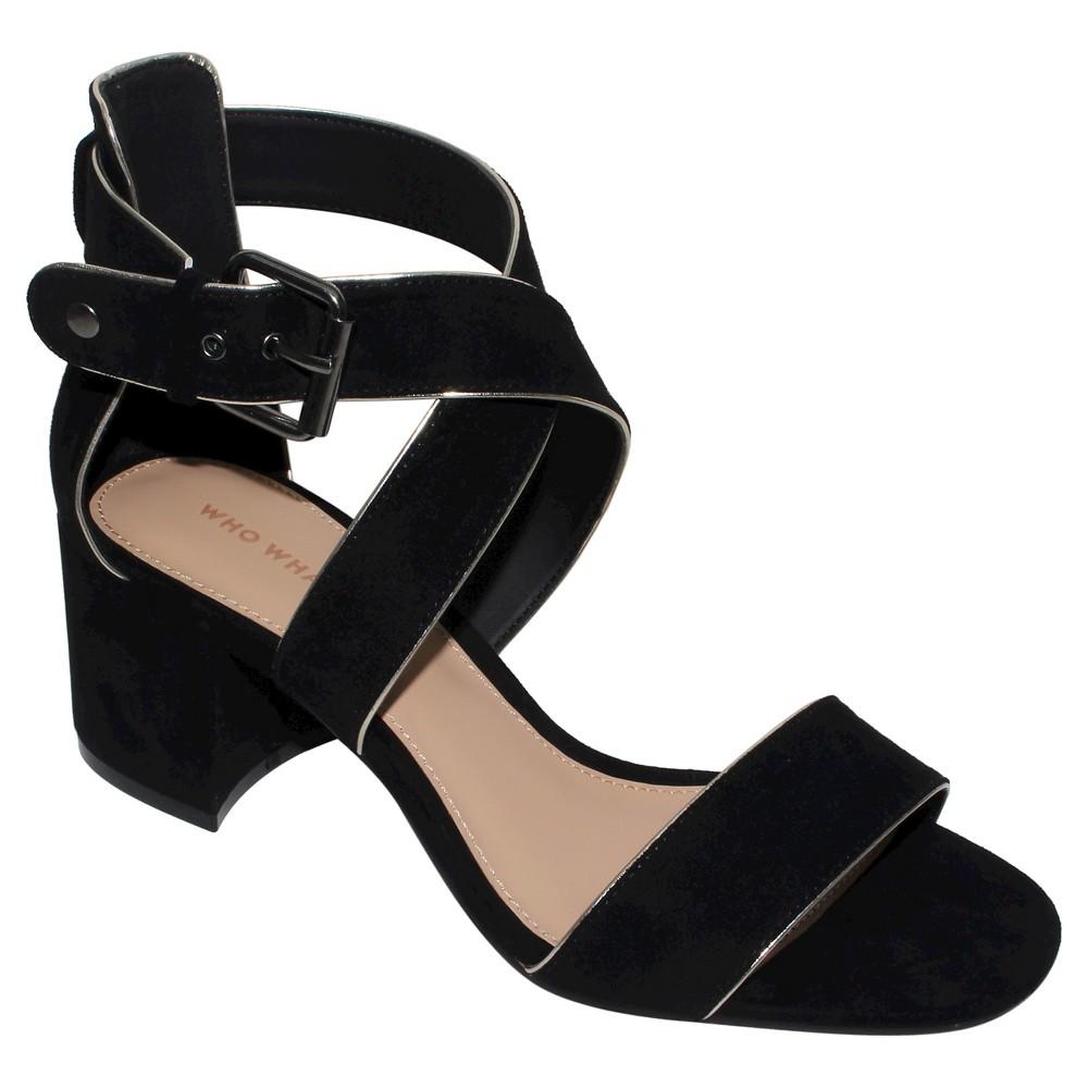 Womens Ashlyn Block Heel Quarter Strap Sandals Who What Wear - Black 7.5